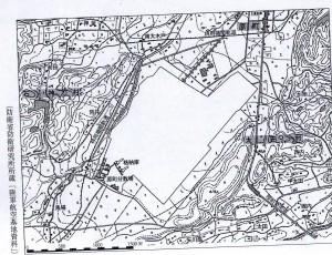 原町飛行場・防衛省資料 地図